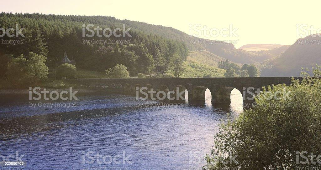 reservoir elan valley wales stock photo