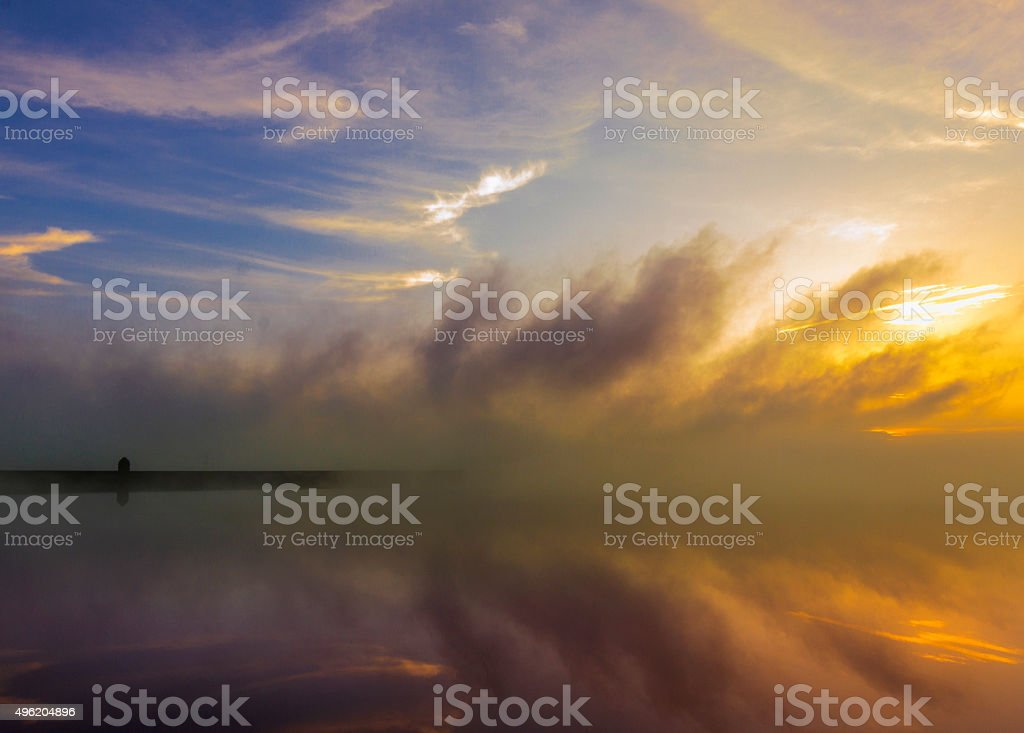 Reservoir Fogs stock photo