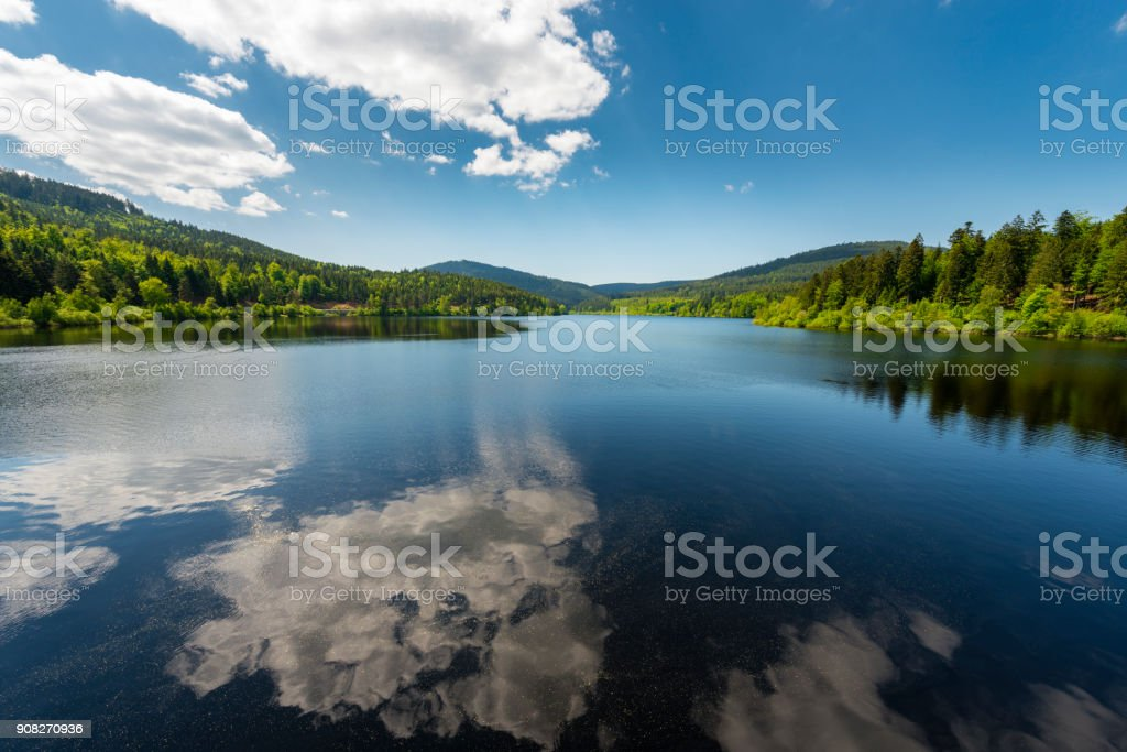 reservoir lake Schwarzenbach in black forest in Germany royalty-free stock photo