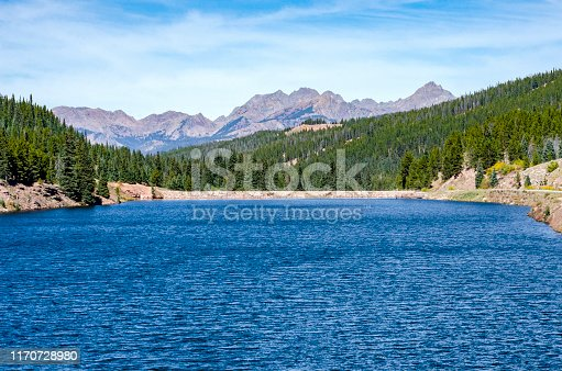 Reservoir of Black Lake on the Vail Pass in Vail, Colorado