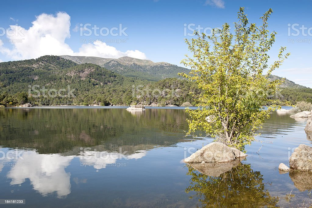Reservoir of El Burguillo royalty-free stock photo
