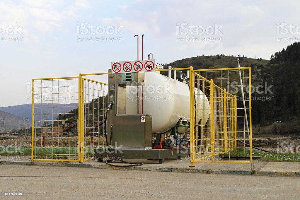 LPG reservoir stock photo