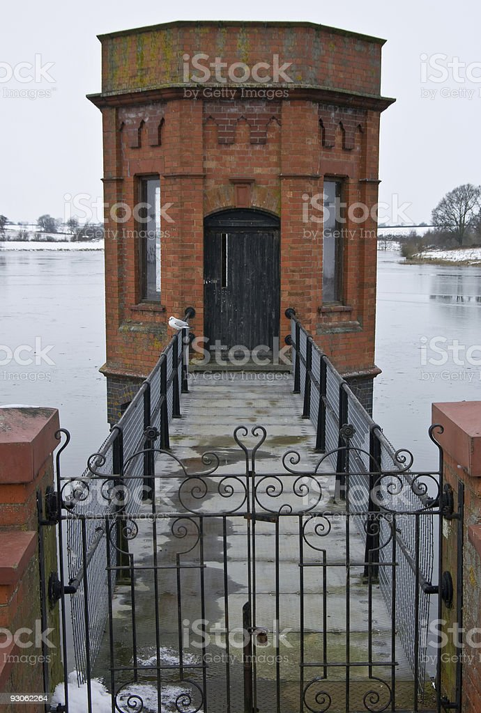 Reservoir pump tower royalty-free stock photo