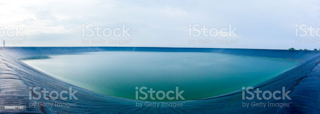 reservoir, water, big, giant, membrane, black, stock photo