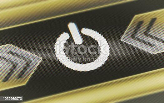 927410752istockphoto Reset icon on the screen. 1075965070