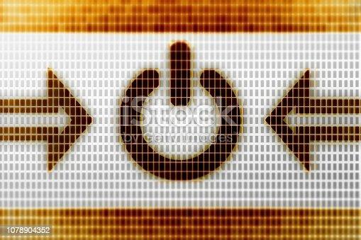 927410752istockphoto Reset icon on the screen. 1078904352