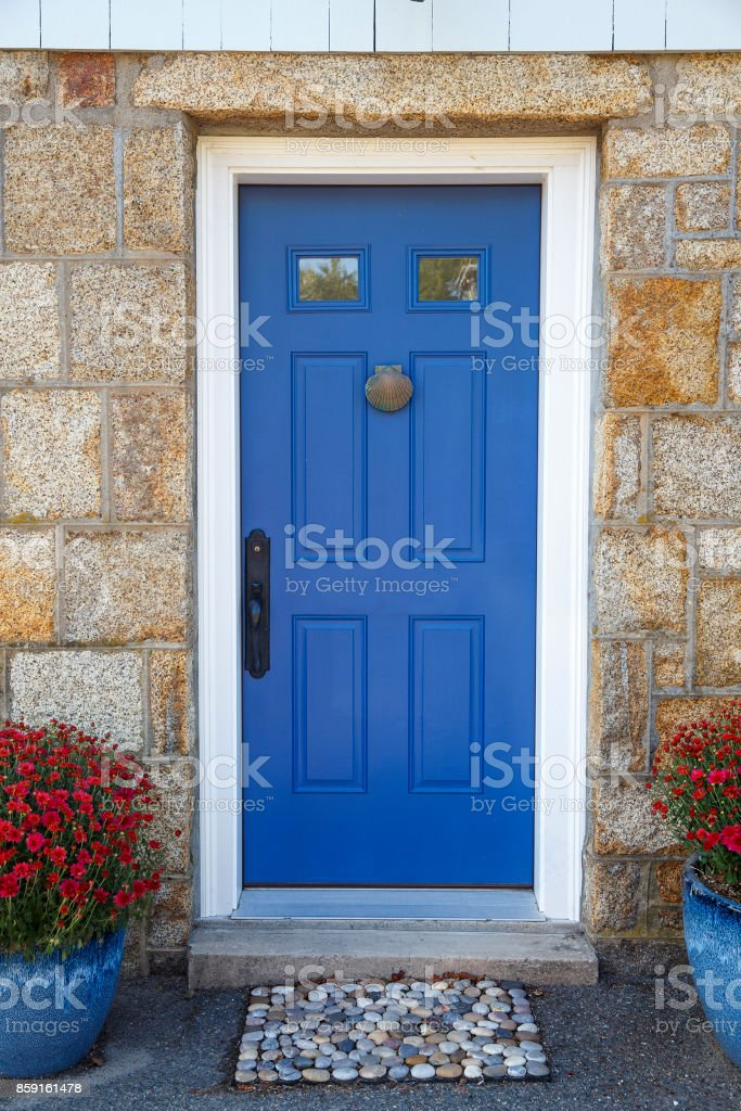 residence front entrance. sleek design stock photo