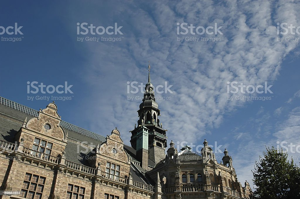 Residence in Stockholm royalty-free stock photo