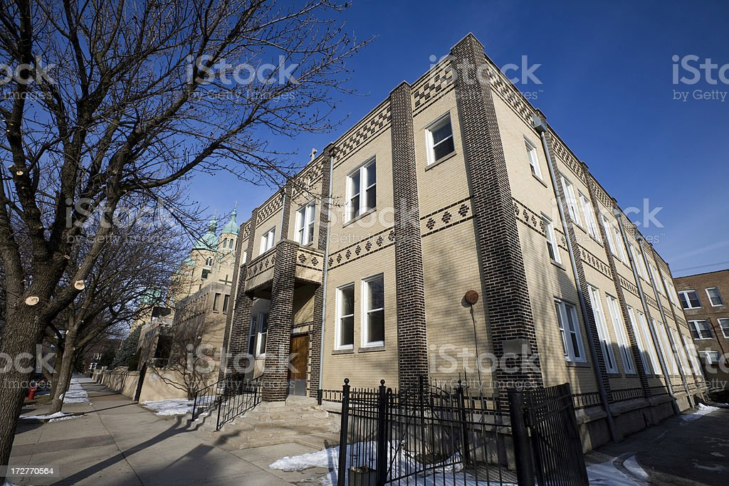 Residence in Ukranian Village Chicago royalty-free stock photo