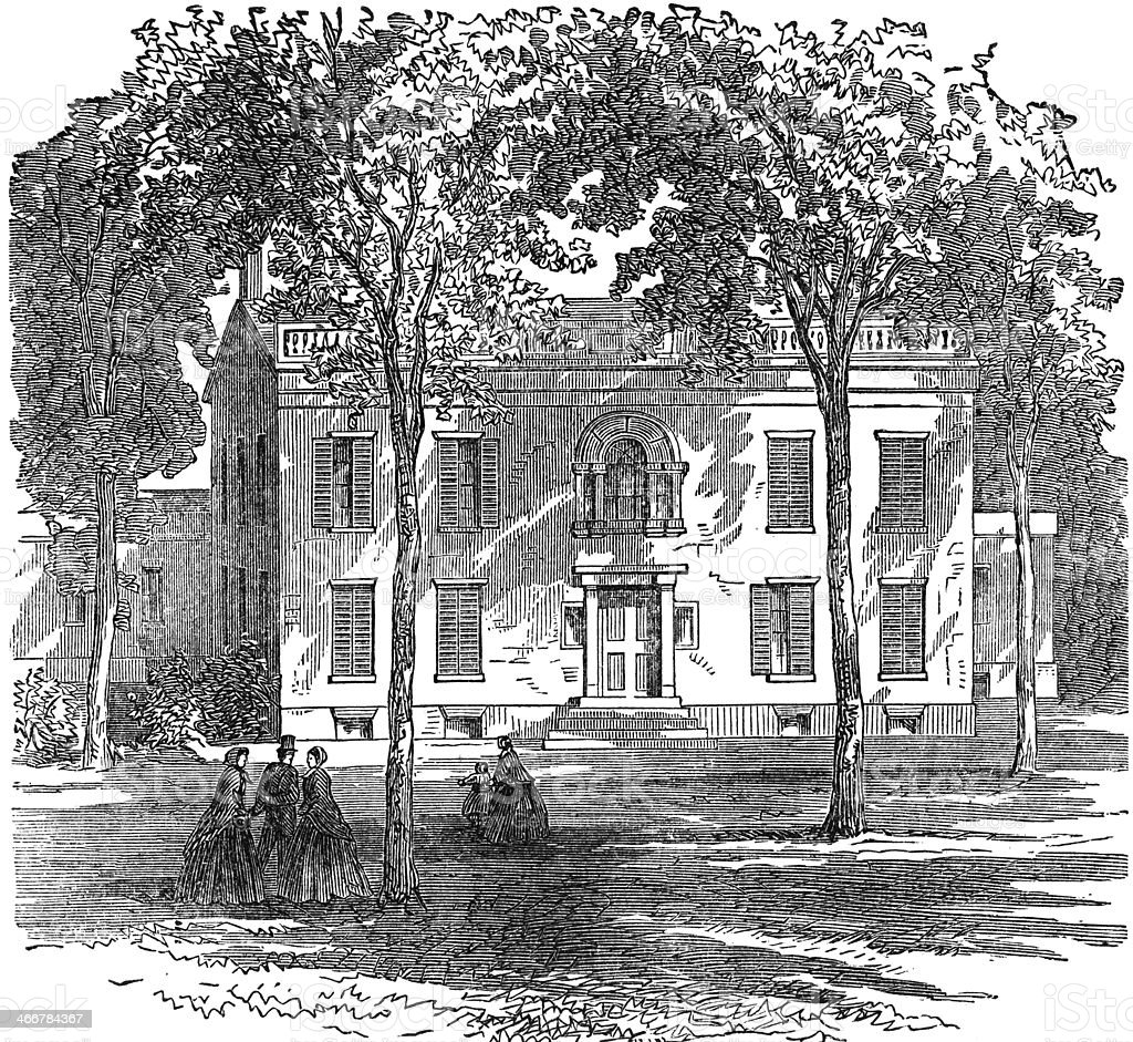 Residence of Martin Van Buren stock photo