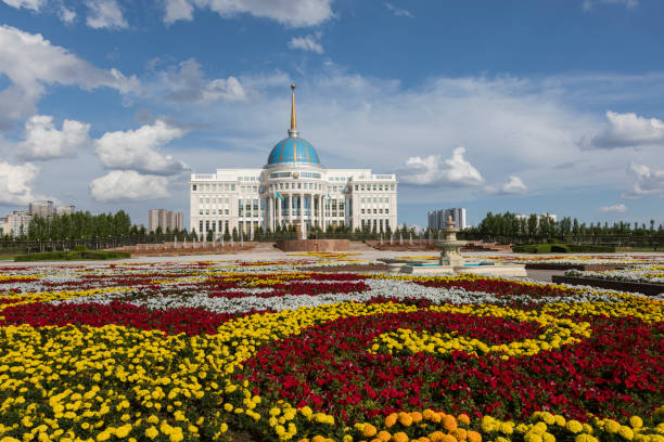 Residence of the President of the Republic of Kazakhstan Ak Orda in Astana, Kazakhstan. stock photo