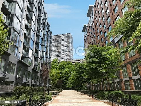 Residences in New Jersey riverside