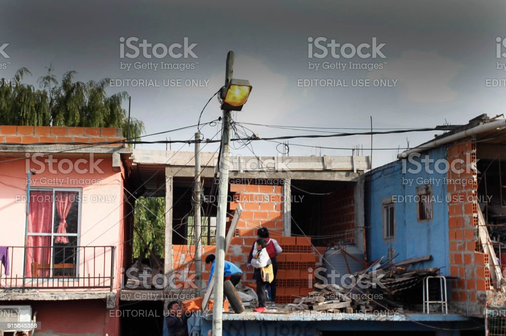 Resident Build His House In The Villa 31 Shantytown In Buenos Aires  Royalty Free Stock