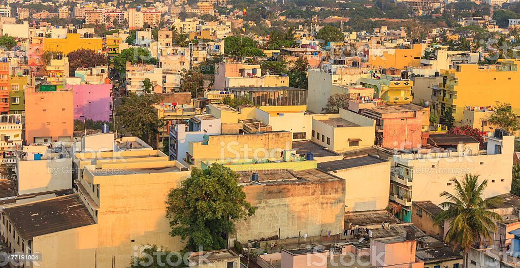 resident building in Bangalore city, India stock photo
