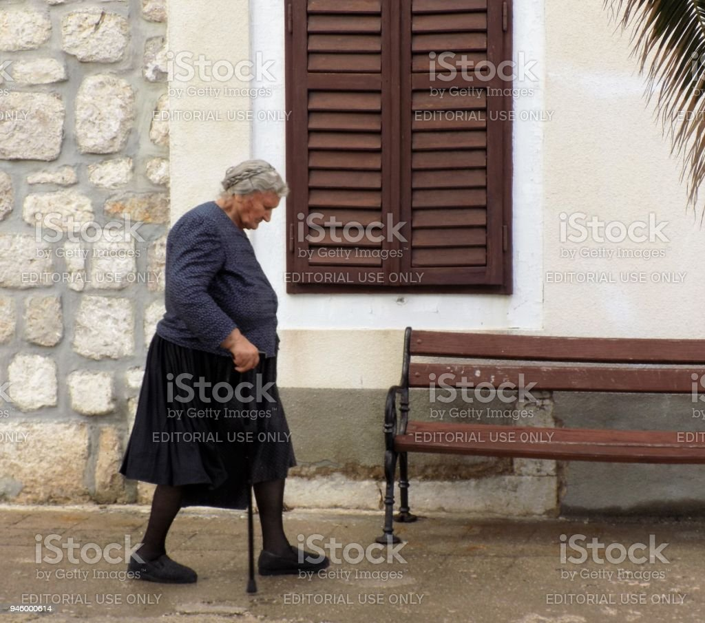 A resident of Pag, Croatia stock photo