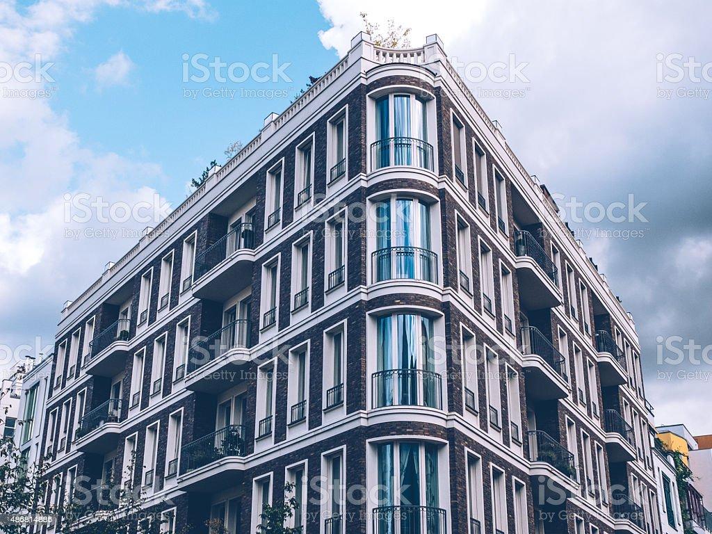 residental building at berlin stock photo