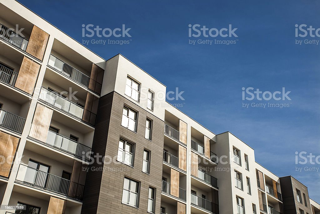 Residental Building on sky background royalty-free stock photo