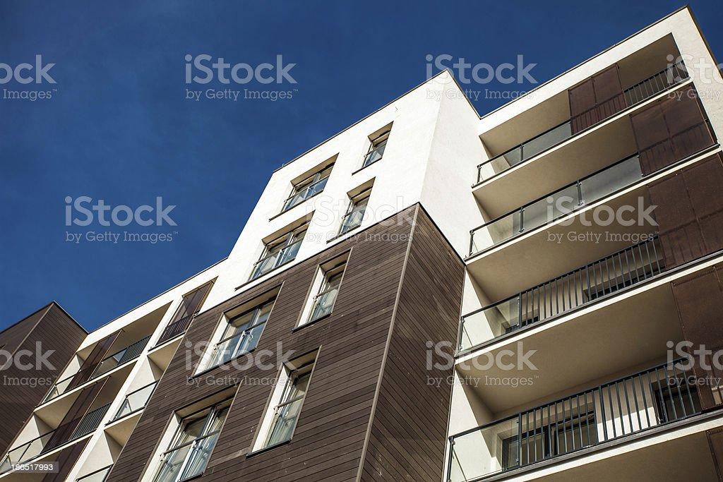 Residental Building on sky background royalty-free stock photo