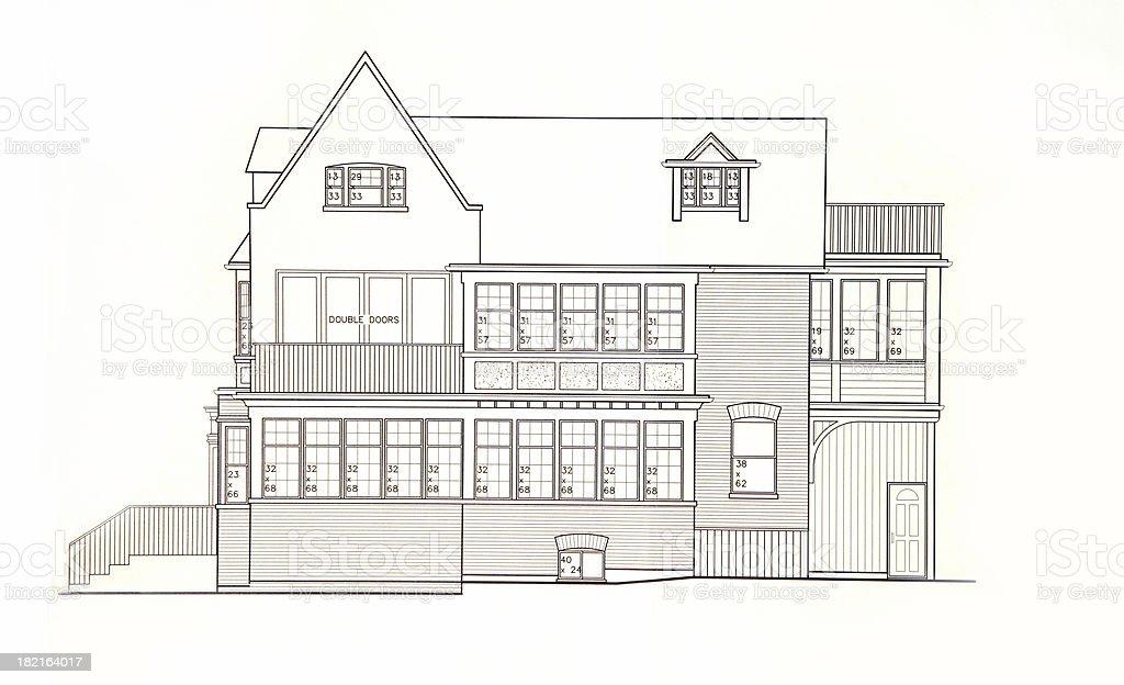Residental side elevation II royalty-free stock photo