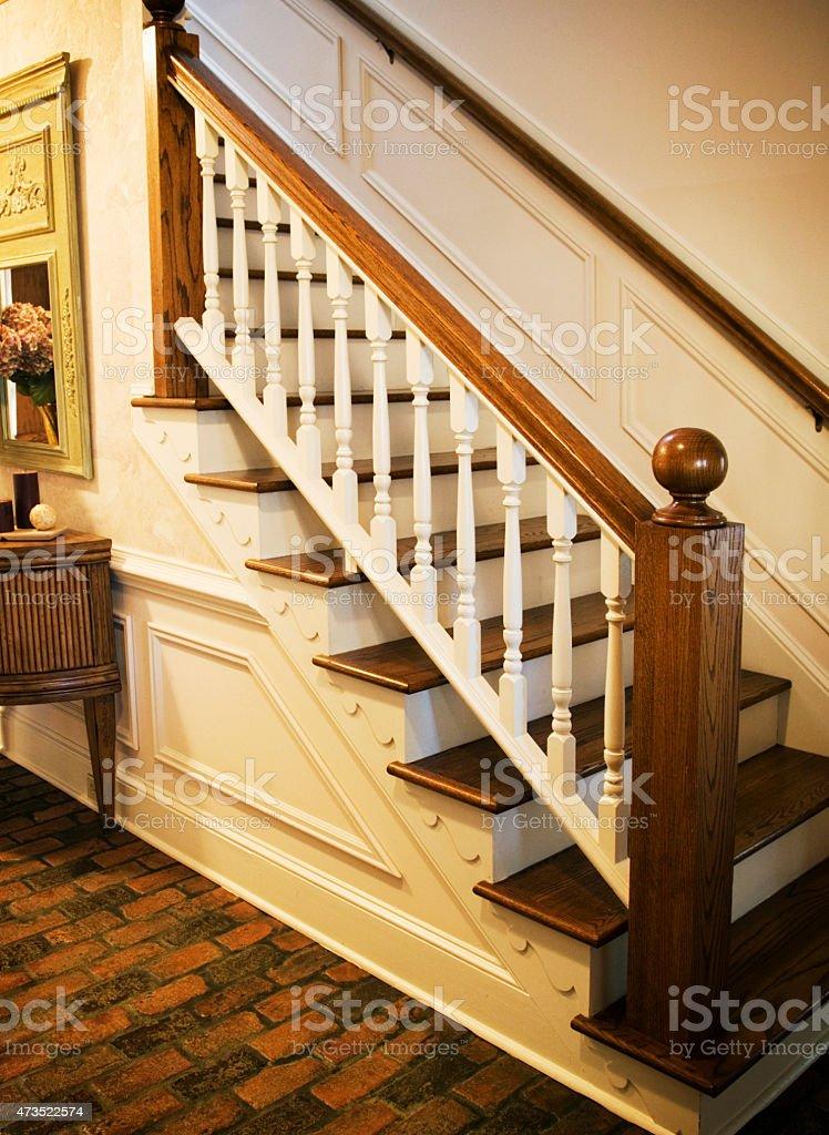 Residental Staircase stock photo