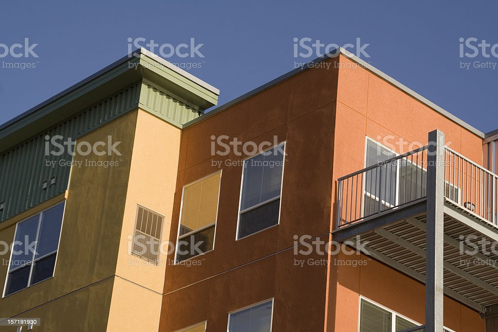 Residential Apartment Condominium Building Contemporary Housing Development royalty-free stock photo