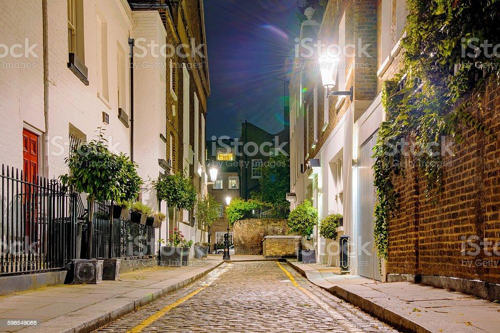 Quartier résidentiel de nuit photo libre de droits
