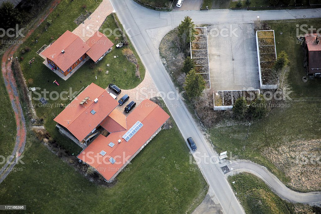 Residential area from above royalty-free stock photo
