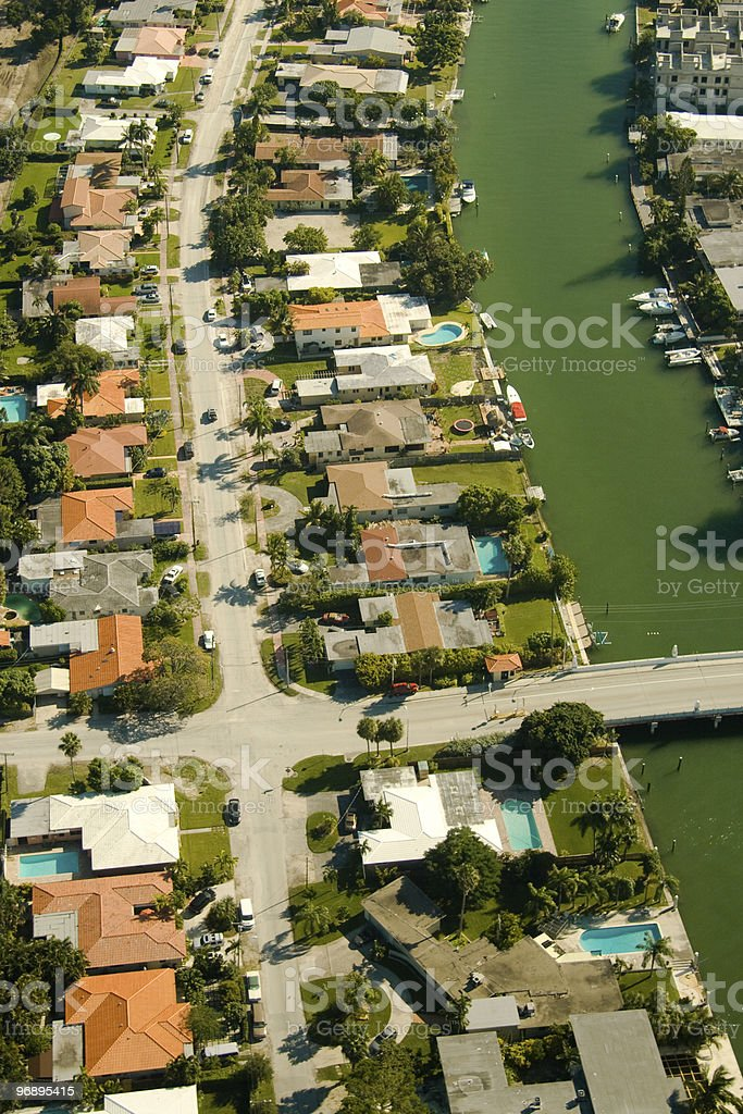 Residential area in Miami royalty-free stock photo