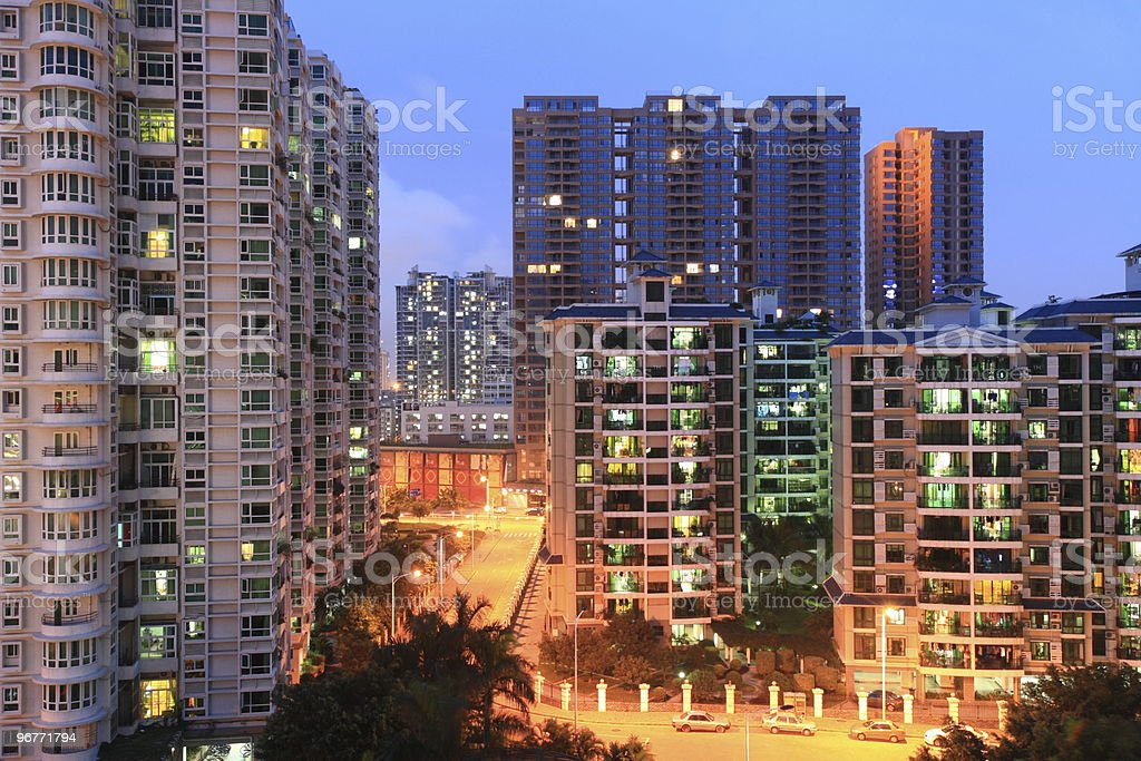 residential area in Shenzhen, PR China royalty-free stock photo