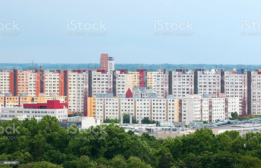 Residential area of Bratislava royalty-free stock photo