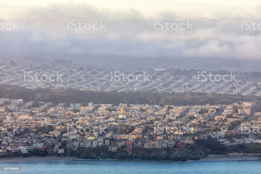 Residential Area On the West Side of San Francisco foto royalty-free