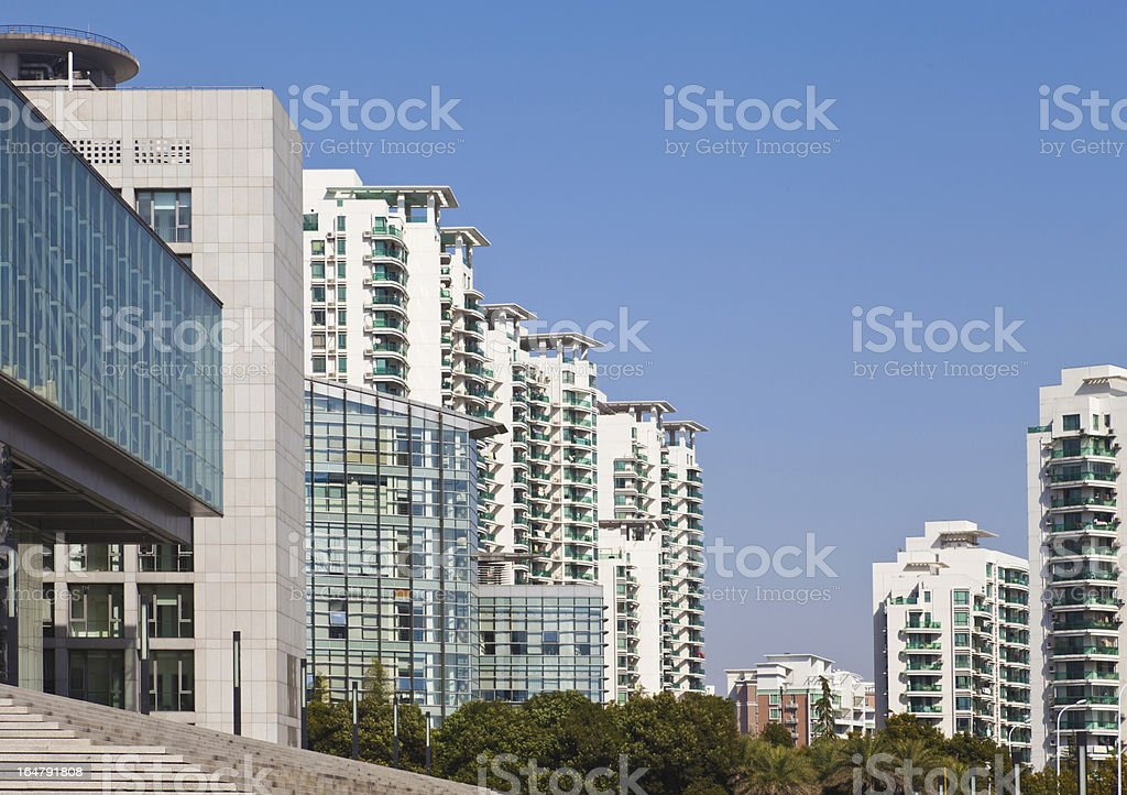 Residential area royalty-free stock photo