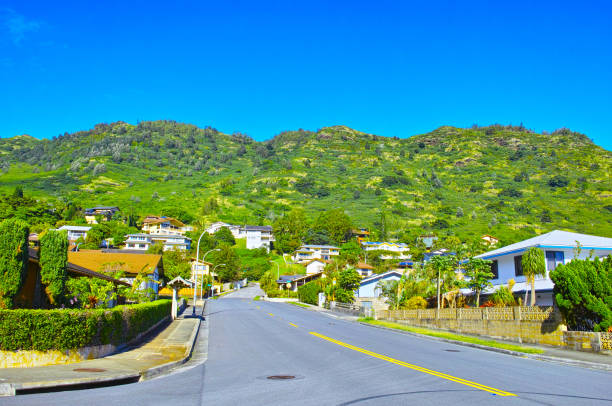 residential area - hawaii home stock photos and pictures