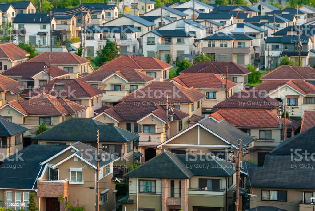 A Residential Area With Regular Roofs Stock Photo Download Image Now Istock
