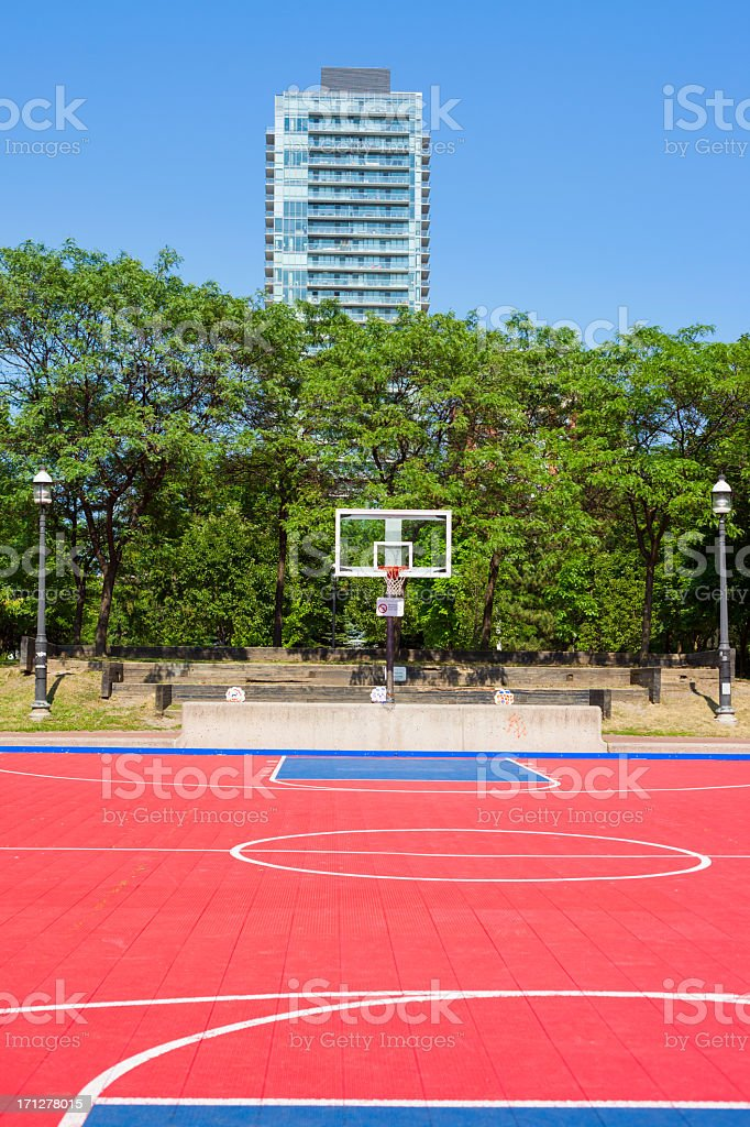 Residential Basketball Court Stock Photo More Pictures Of