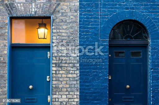 istock Residential Blue Doors 918078060