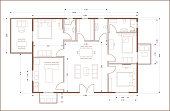 istock Residential building blueprint plan. Real estate, housing project construction concept. 1288292255
