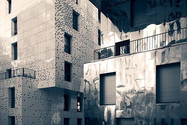 Residencial Fachada de edificio - foto de stock