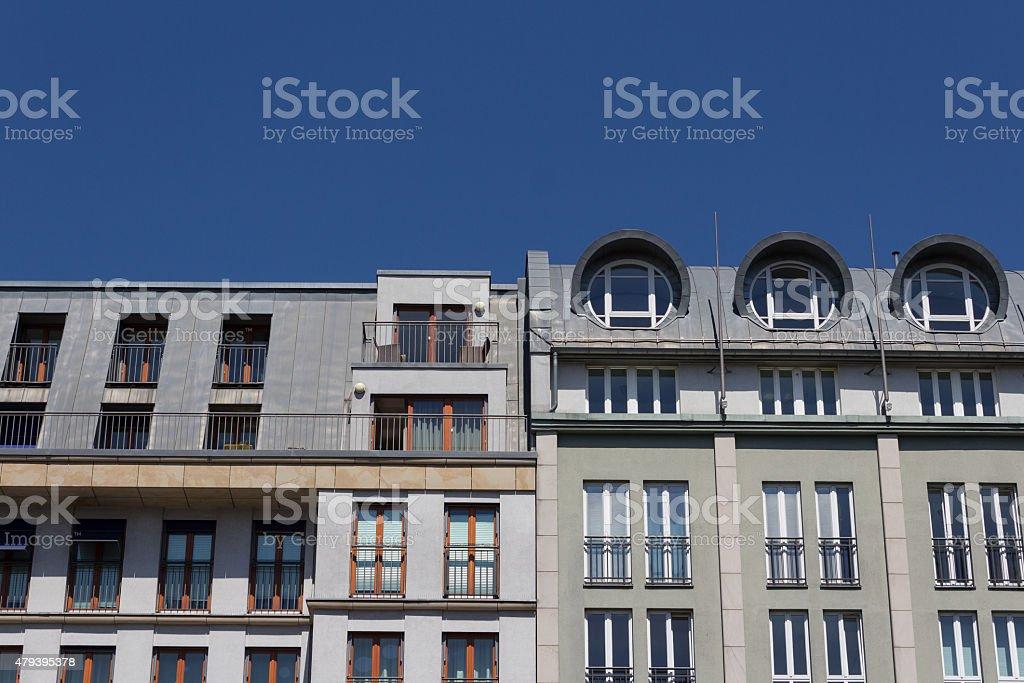 residential building facade - real estate stock photo