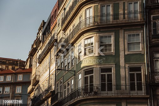 937530990 istock photo Residential building facades in Porto, Portugal 1206872746