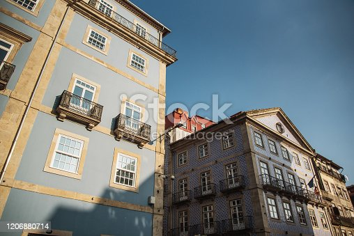 937530990 istock photo Residential building facades in Porto, Portugal 1206880714