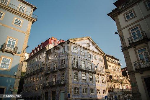 937530990 istock photo Residential building facades in Porto, Portugal 1206880792