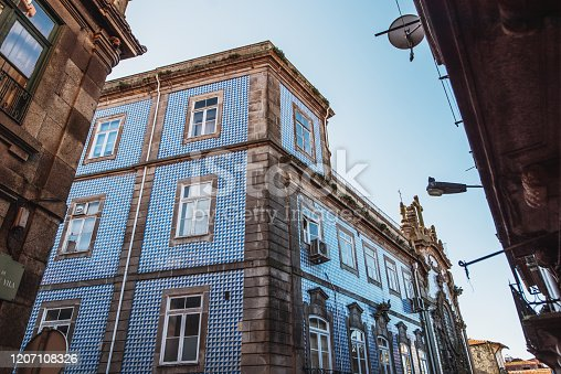 937530990 istock photo Residential building facades in Porto, Portugal 1207108326