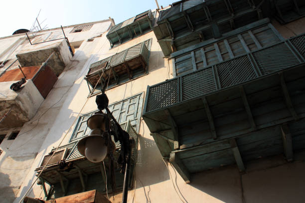 bangunan perumahan di al-balad, jeddah - rumah syariah potret stok, foto, & gambar bebas royalti