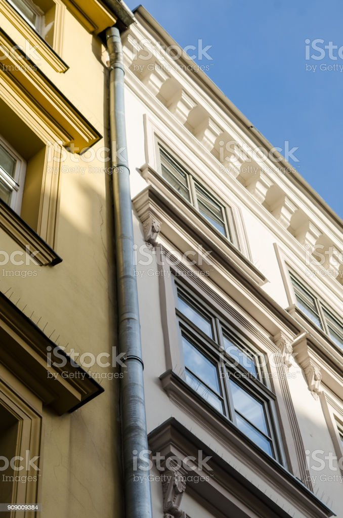Residential building (vertical) stock photo