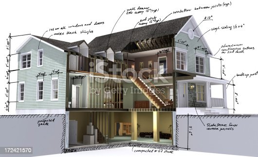 istock Residential building scetch 172421570