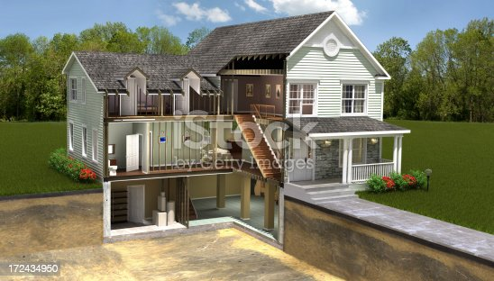 istock Residential building section 172434950