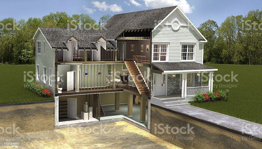 Wohngebäude-Abschnitt – Foto