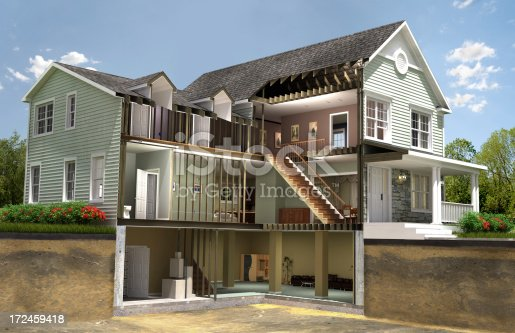 istock Residential building section 172459418