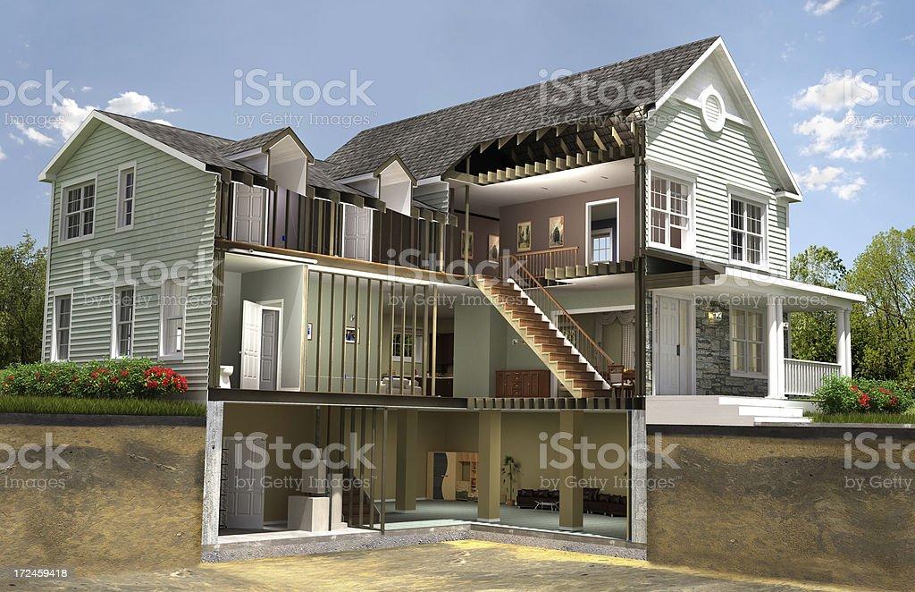 Residential building section stok fotoğrafı